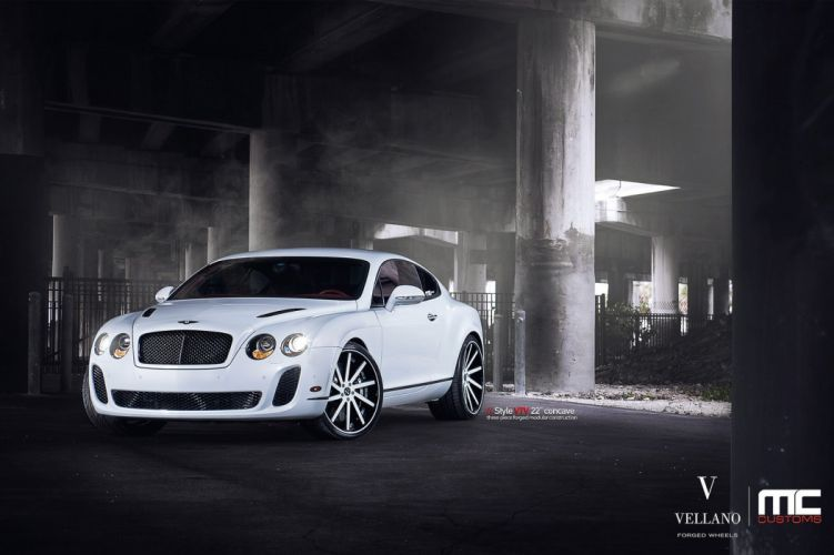 Bentley continental supersports white uk Vellano wheels tuning cars wallpaper