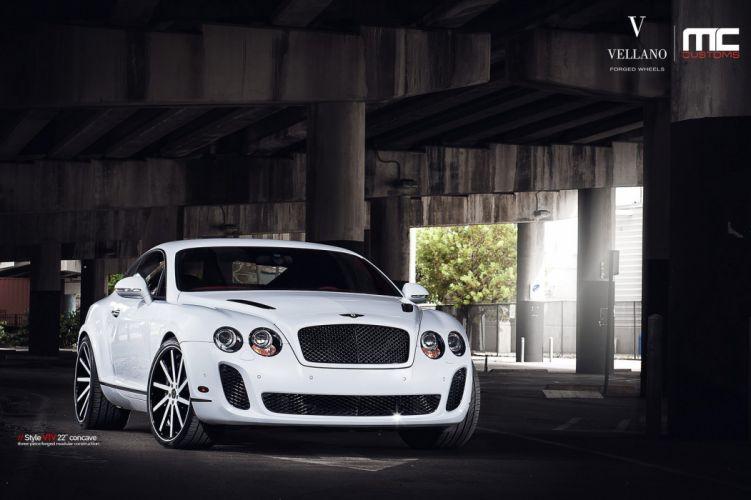 Bentley continental supersports white uk Vellano wheels tuning cars wallpaper