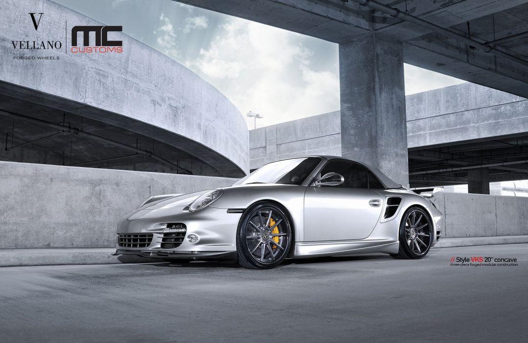 Porsche 997 Turbo Convertible Grey Vellano Wheels Tuning Supercars Wallpaper 1600x1039 392742 Wallpaperup