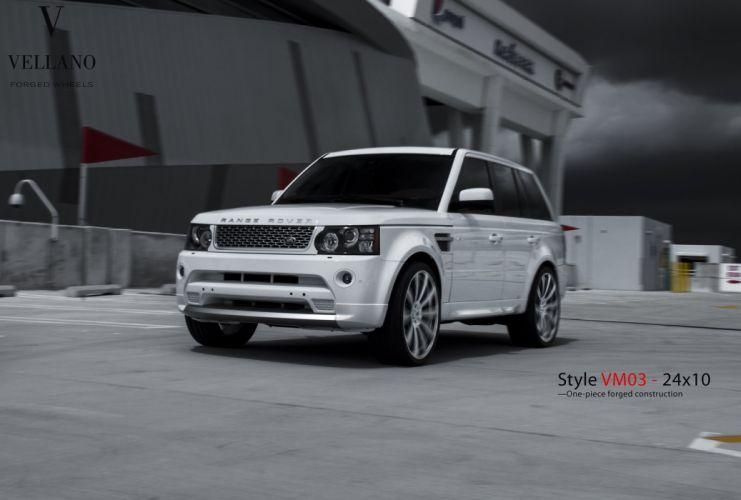 Range Rover Sport suv white Vellano wheels tuning cars wallpaper