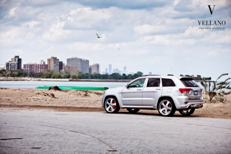 Jeep Grand Cherokee SRT8 grey Vellano wheels tuning cars wallpaper