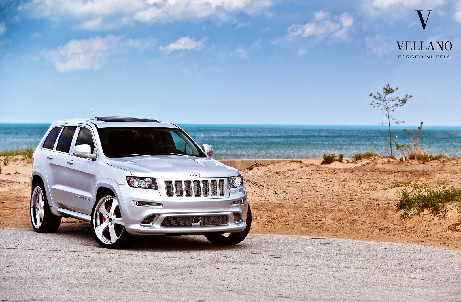 jeep grand cherokee srt8 grey vellano wheels tuning cars. Black Bedroom Furniture Sets. Home Design Ideas