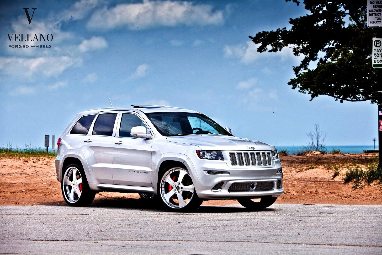 jeep grand cherokee srt8 grey vellano wheels tuning cars. Black Bedroom Furniture Sets. Home Design Ideas