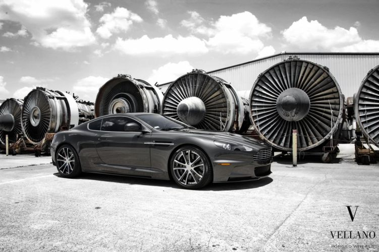 Aston Martin DBS uk Vellano wheels tuning supercars wallpaper