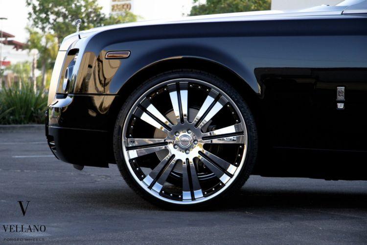 Rolls Royce Drophead black convertible uk Vellano wheels tuning cars wallpaper