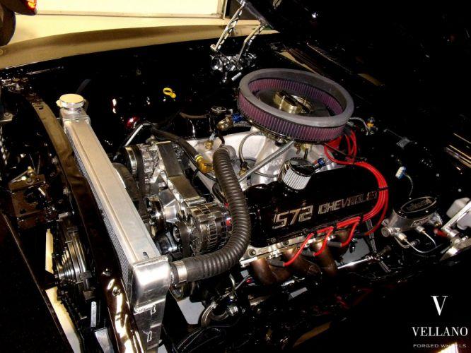 1969 Chevy Camaro SS black supercharger Vellano wheels tuning cars wallpaper