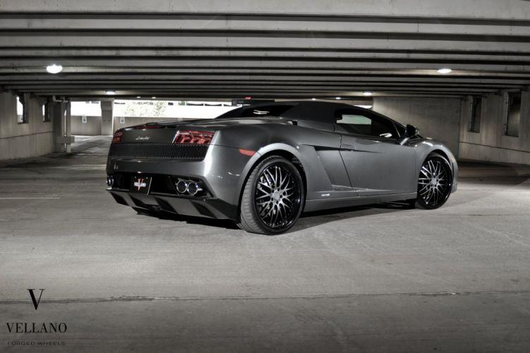 Lamborghini gallardo spider grey Vellano wheels tuning supercars wallpaper