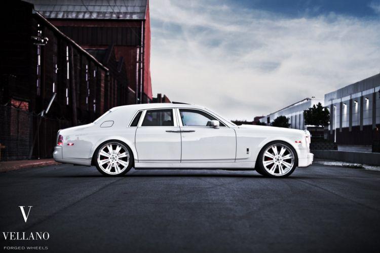 Rolls Royce Phantom white uk Vellano wheels tuning cars wallpaper