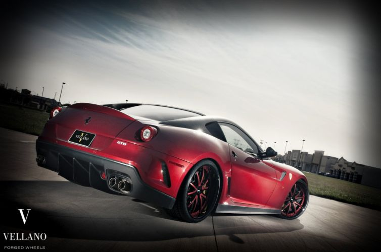Ferrari 599 gto Vellano wheels tuning supercars wallpaper