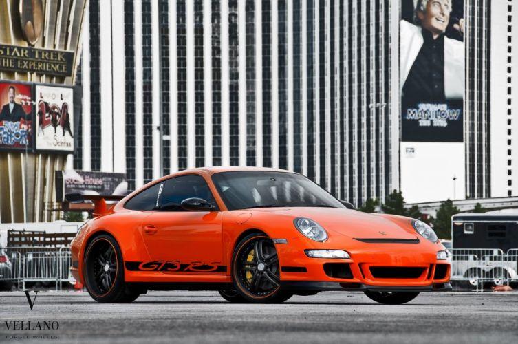 Porsche 997 GT3 RS germany orange Vellano wheels tuning supercars wallpaper