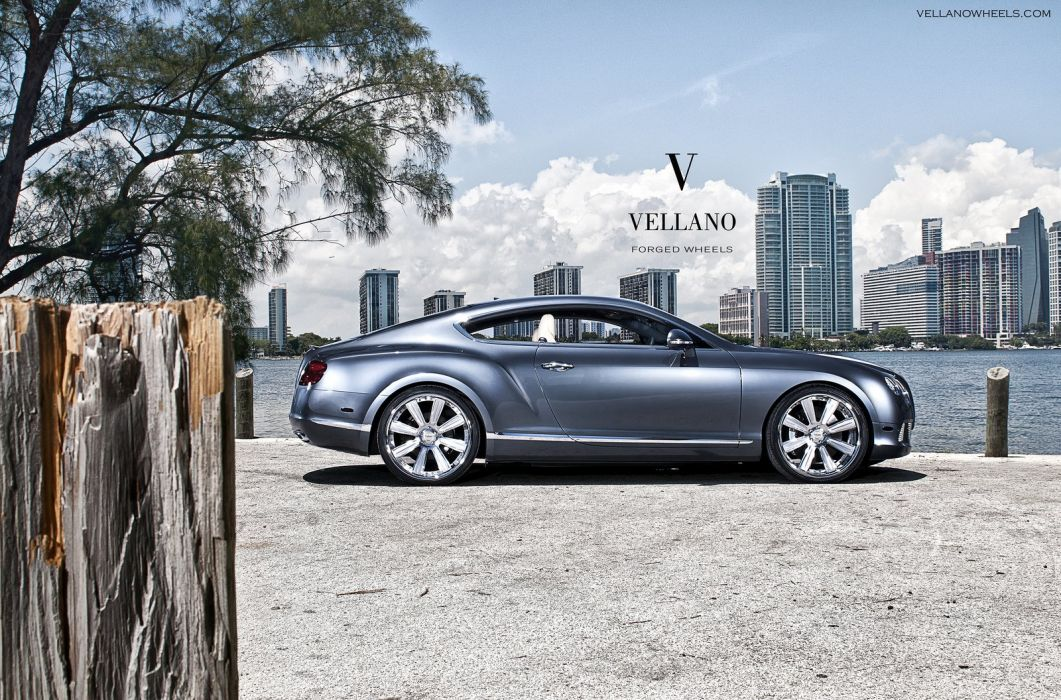 Bentley Continental GT uk Vellano wheels tuning supercars wallpaper