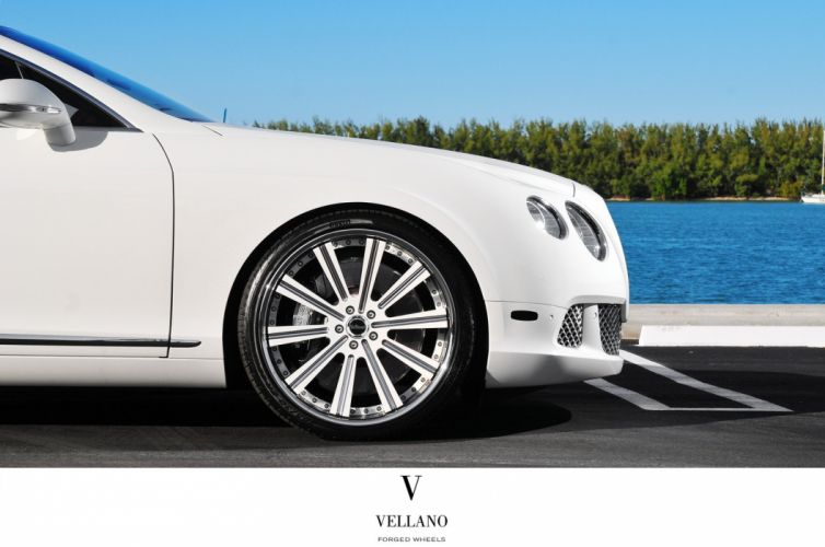 Bentley Continental supercars white Tuning vellano wheels wallpaper