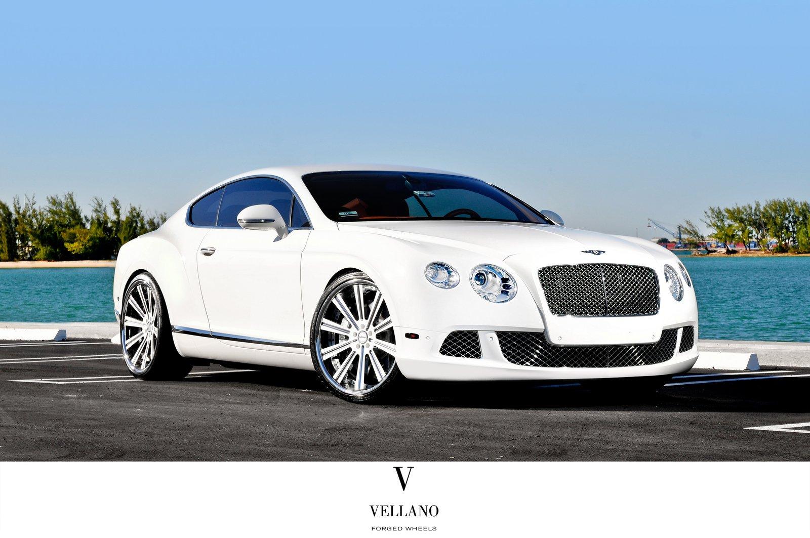Bentley Continental supercars white Tuning vellano wheels ...