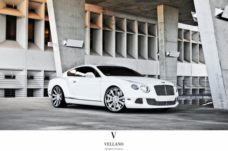 Bentley Continental supercars white Tuning vellano wheels wallpaper