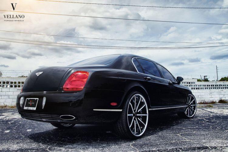 Bentley Continental Flying Spur black Vellano wheels tuning supercars wallpaper