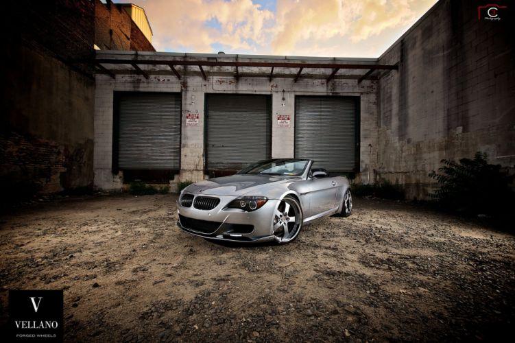 BMW 6-Series convertible grey Vellano wheels tuning cars wallpaper