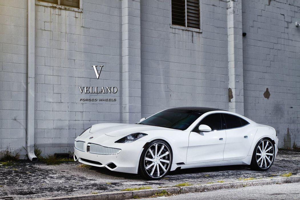 Fisker Karma White Vellano Wheels Tuning Supercars Wallpaper