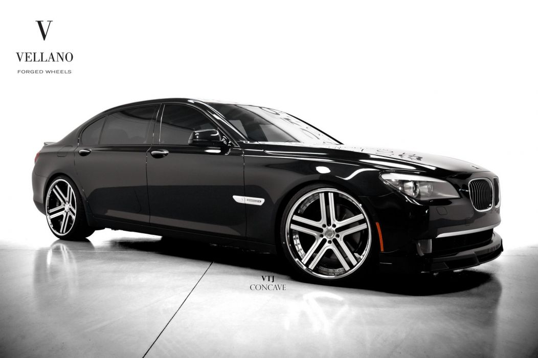 BMW 7-SERIES black Vellano wheels tuning cars wallpaper