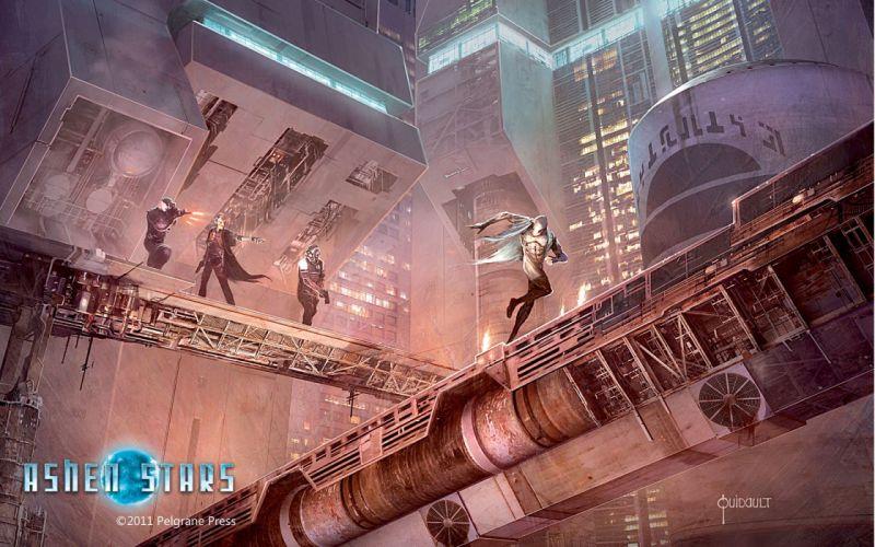 ASHEN STARS sci-fi rpg futuristic spaceship wallpaper