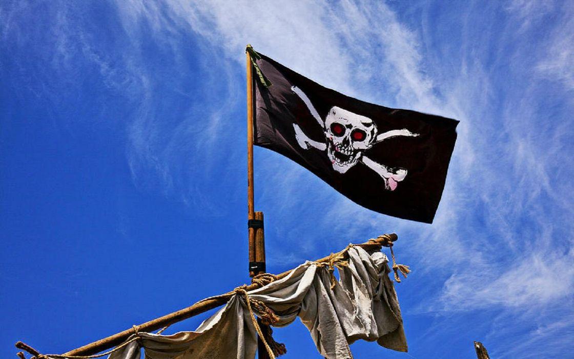 Pirate Ship Flag wallpaper