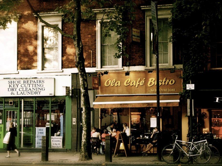 London Cafe wallpaper
