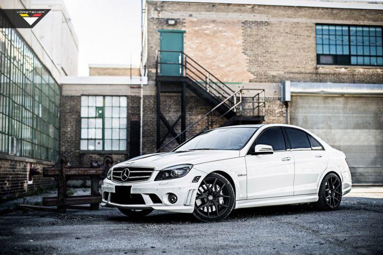 2014 vorsteiner c63 amg white wheels tuning germany cars wallpaper