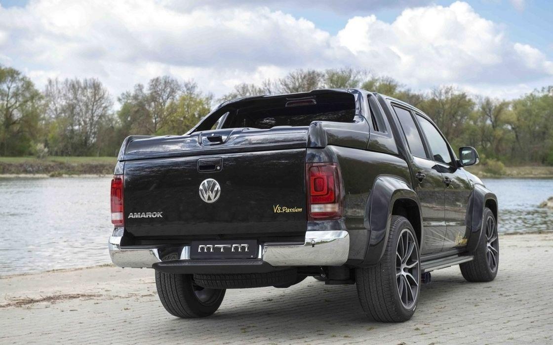 2014 MTM Volkswagen Amarok tuning black pick up germany cars wallpaper