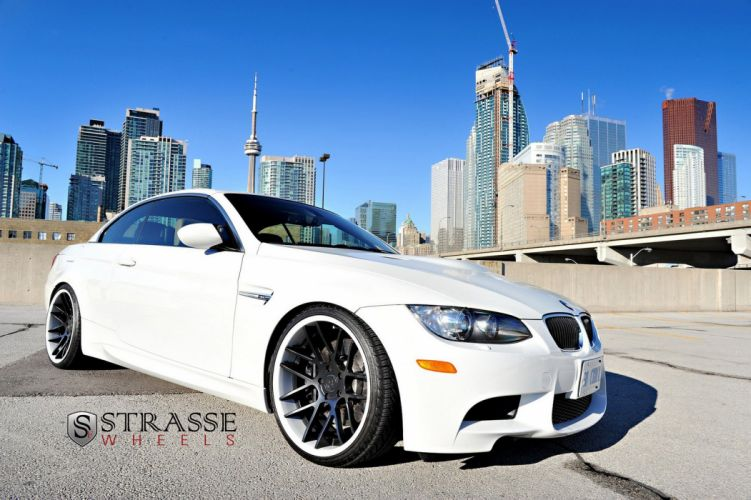 bmw m3 e92 convertible white germany Strasse Wheels tuning cars wallpaper
