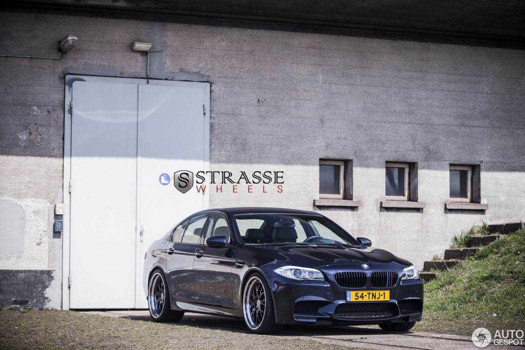 BMW M5 f10 blue Manhart Racing germany Strasse Wheels tuning cars  wallpaper