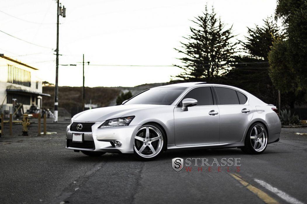 Lexus GS350 grey Strasse Wheels tuning cars wallpaper