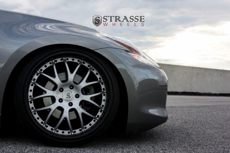 Nissan 370z grey japan Strasse Wheels tuning cars wallpaper