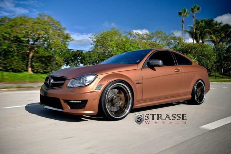mercedes C63 AMG Coupe Strasse Wheels tuning cars wallpaper