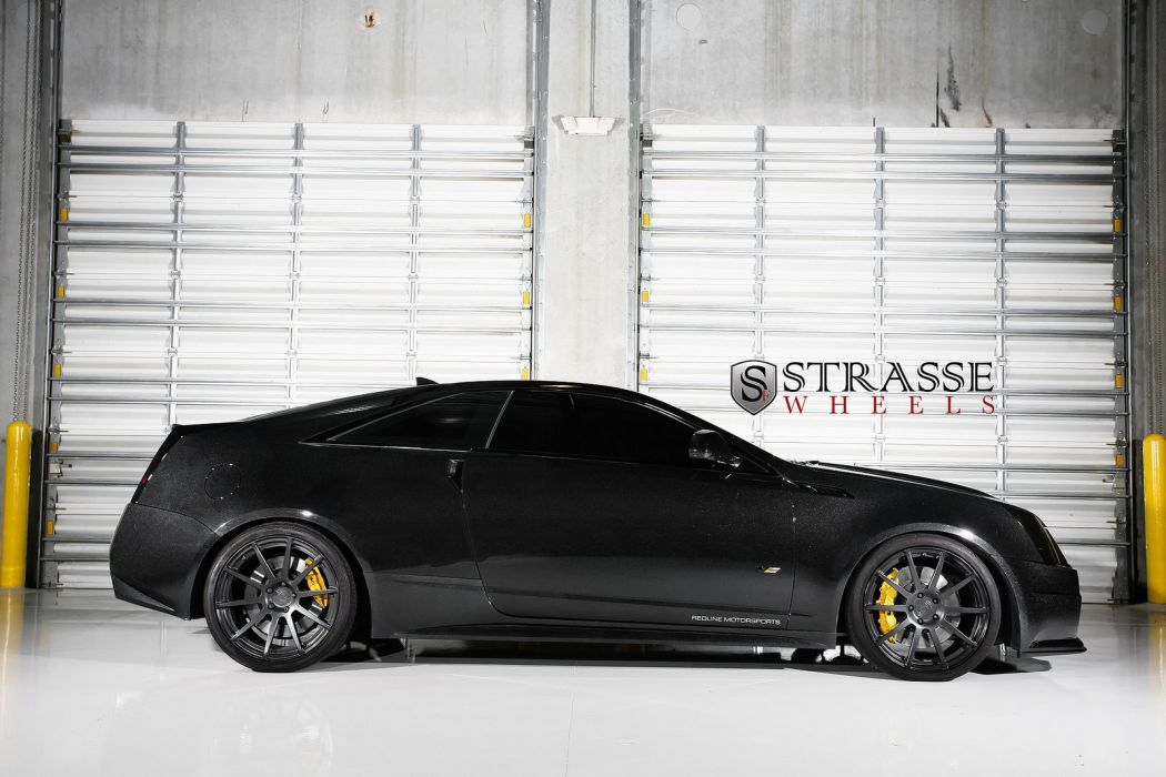 cadillac Black Diamond CTS-V Coupe Strasse Wheels tuning cars wallpaper