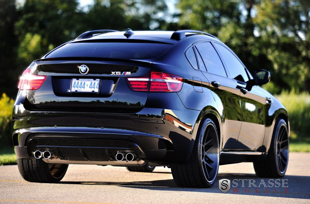 Bmw X6 M Black Suv Strasse Wheels Tuning Cars Wallpaper