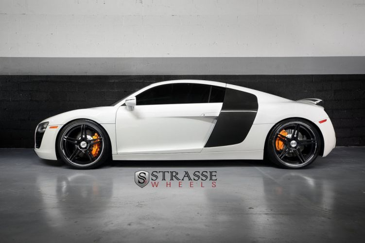 Audi R8 white germany Strasse Wheels tuning cars wallpaper