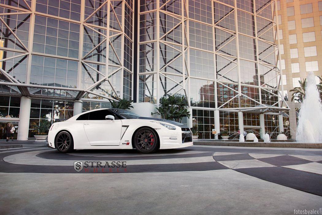 nissan gtr white japan Strasse Wheels tuning cars wallpaper