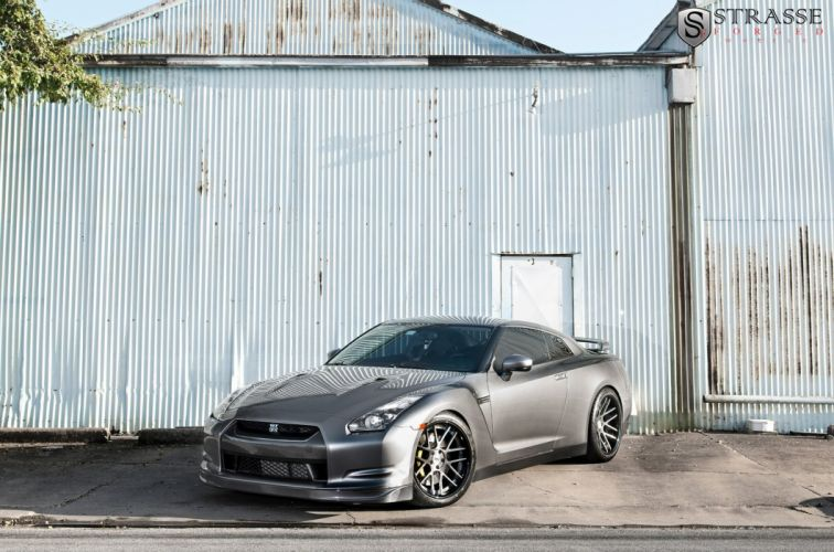 cars GTR Japan Nissan strasse Tuning wheels grey wallpaper