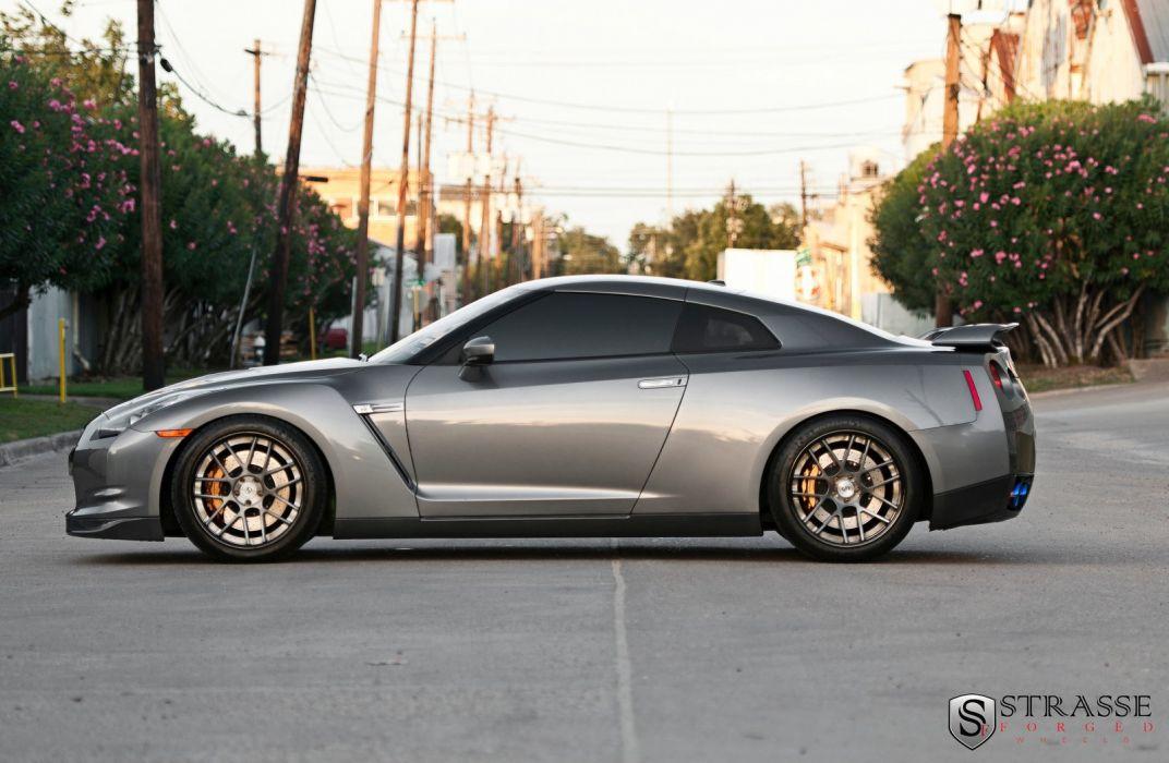 cars GTR Japan Nissan strasse Tuning wheels grey wallpaper