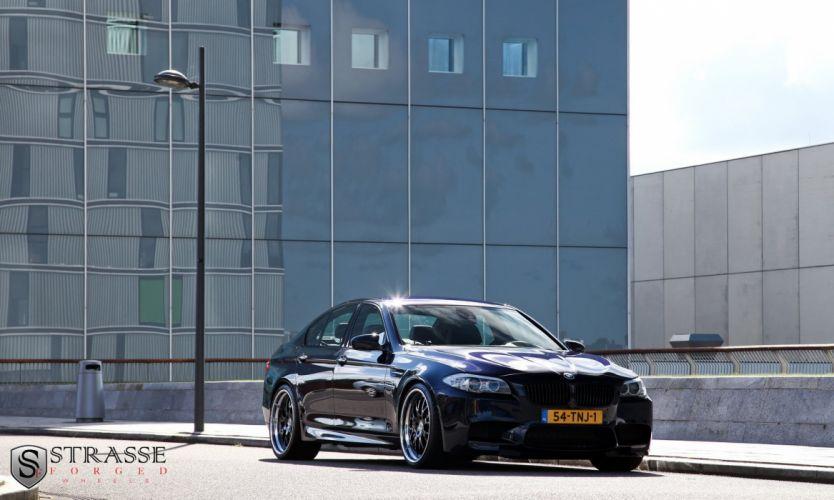 bmw m5 f10 blue germany Strasse Wheels tuning cars wallpaper