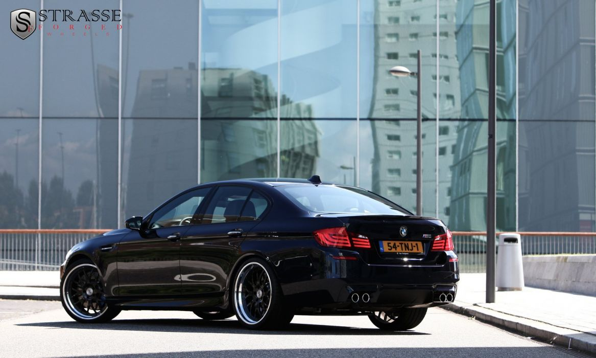 bmw m5 f10 blue germany Strasse Wheels tuning cars wallpaper