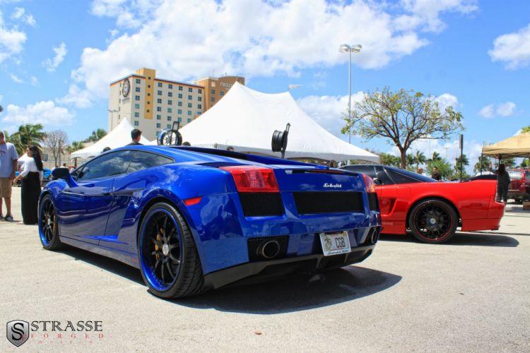 Lamborghini Gallardo blue Strasse Wheels tuning cars wallpaper