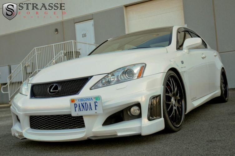 Lexus IS-F white Strasse Wheels tuning cars wallpaper