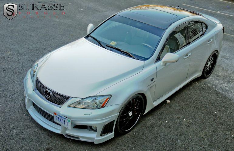 Lexus IS-F white Strasse Wheels tuning cars wallpaper
