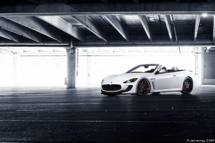 Maserati GranTurismo Forgiato Wheels supercars white tuning wallpaper
