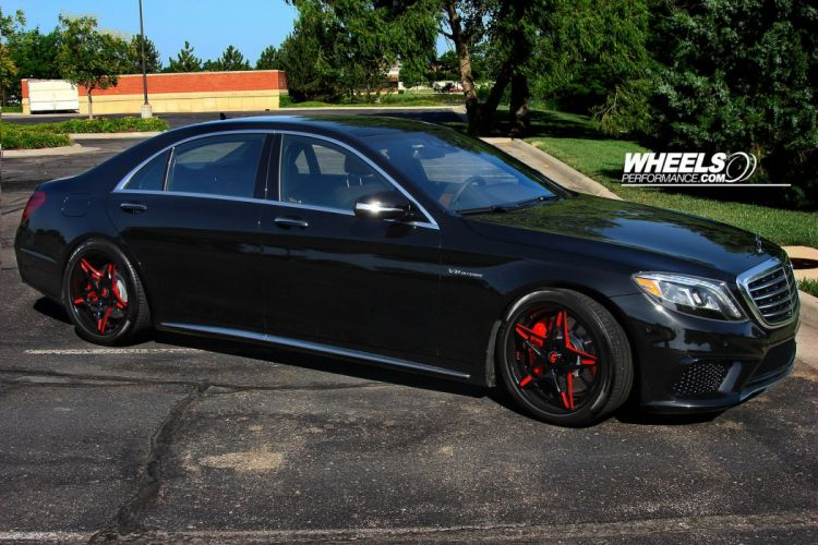 MERCEDES S63 AMG black FORGIATO Wheels tuning cars wallpaper