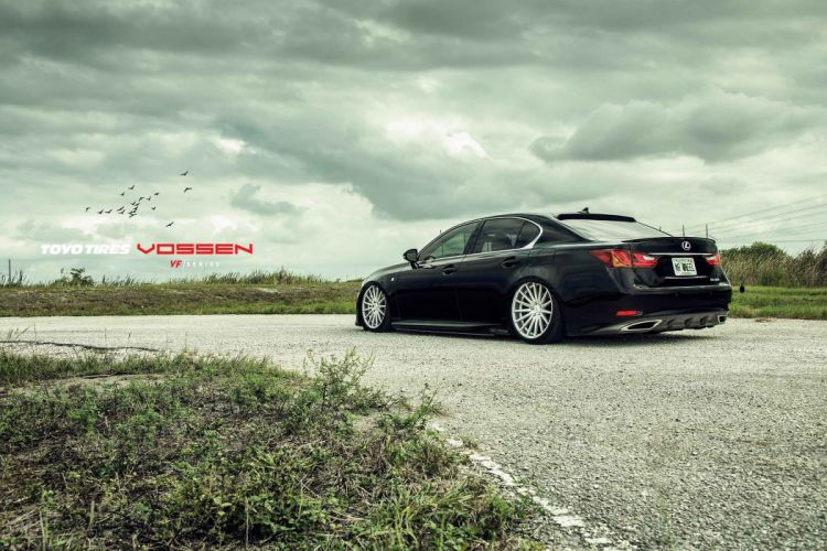 LEXUS GS black vossen wheels tuning cars wallpaper