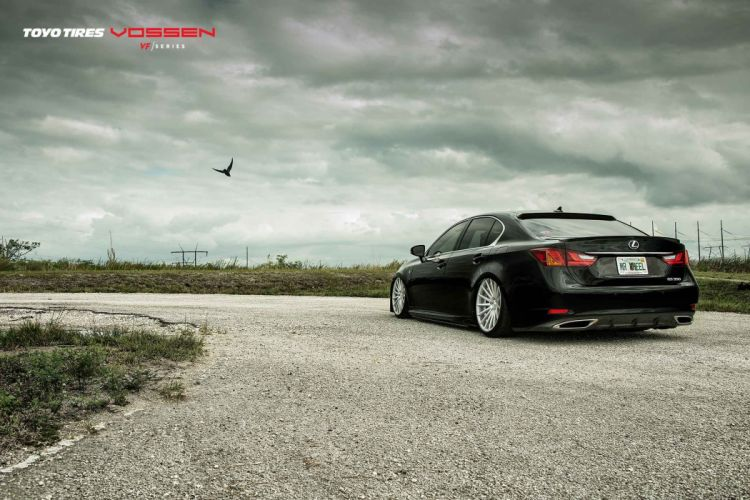 LEXUS GS black vossen wheels tuning cars wallpaper