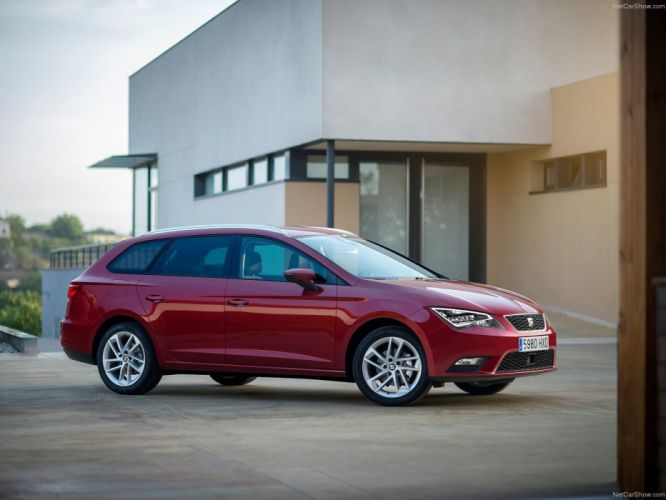 Seat Leon ST 4Drive red cars 2014 wallpaper