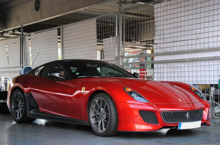 ferrari 599 gto red supercars wallpaper