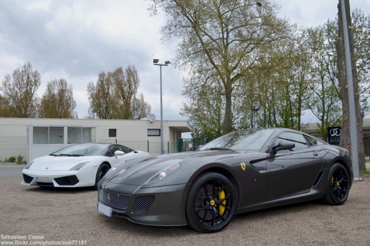 ferrari 599 gto grey supercars wallpaper